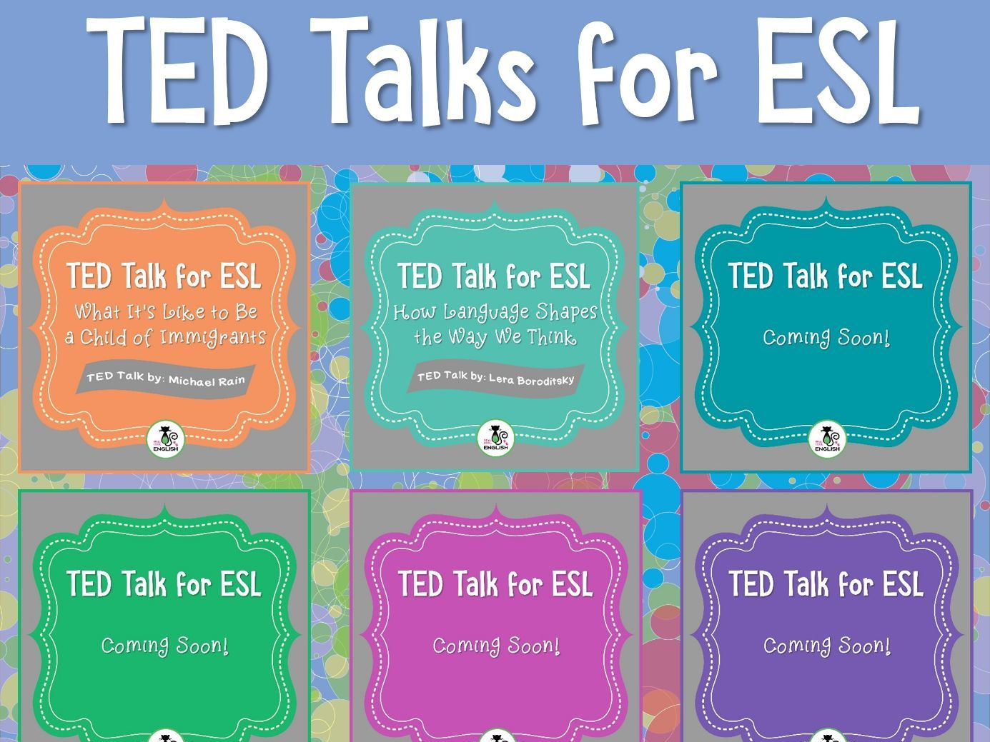 ESL Lessons for TED Talks Bundle (Volume 2)