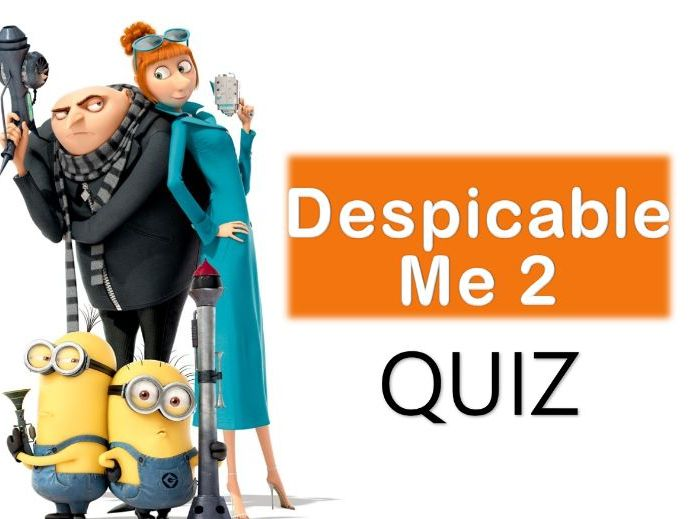 Despicable Me 2 Multiple Choice Quiz Game - Grades 2-3 - PowerPoint