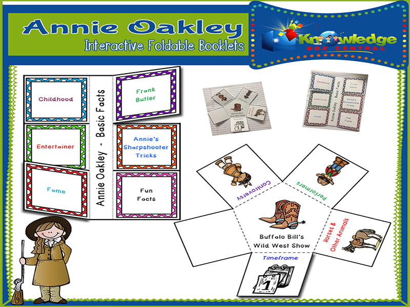 Annie Oakley Interactive Foldable Booklets