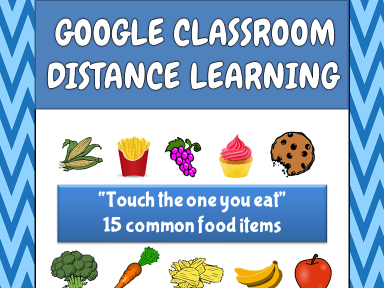 Touch the One you Eat - Distance Learning - ABA and Special Education