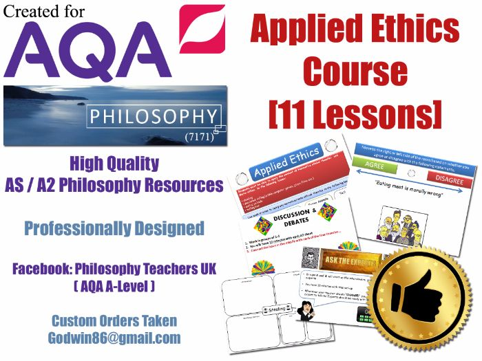 Applied Ethics (11 Lessons) AQA Philosophy ( 7171 ) (Simulated Killing, Meat, Lying & Stealing) AS