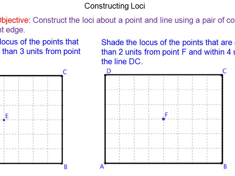 Elementary school construction loci and scale drawing resources – Locus Worksheet