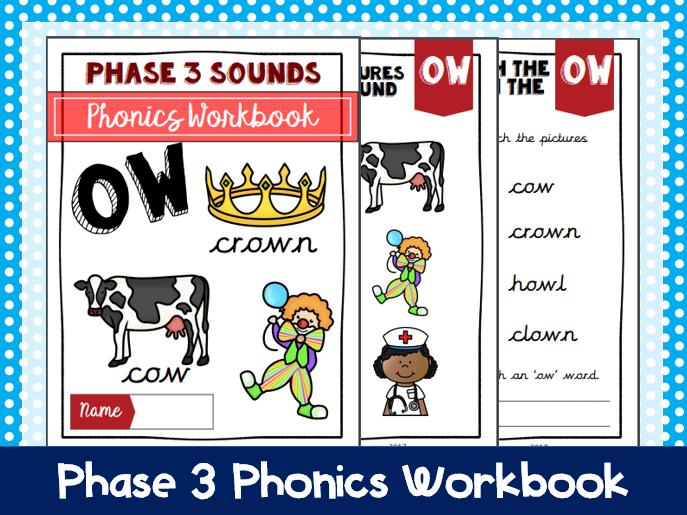 'Ow' Phonics Workbook
