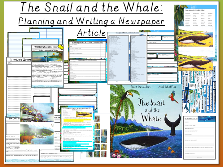 The Snail and the Whale -Planning, Writing and Publishing a Newspaper Article