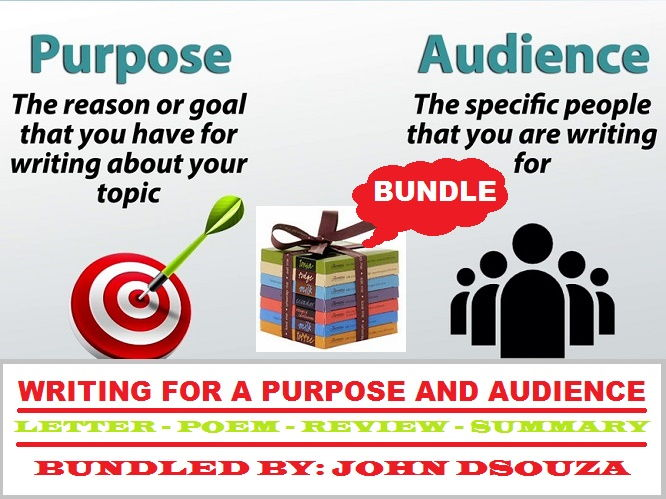 WRITING FOR A PURPOSE & AUDIENCE - LESSONS & RESOURCES: BUNDLE