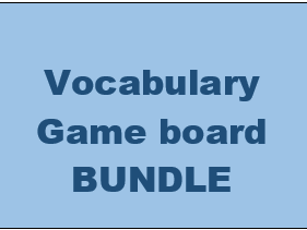 Vocabulary Game boards PowerPoint version Bundle