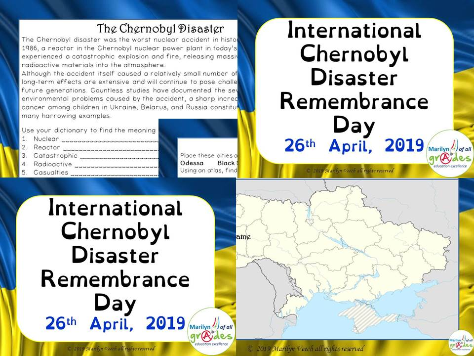 International Chernobyl Disaster Remembrance Day. Activities & Worksheets