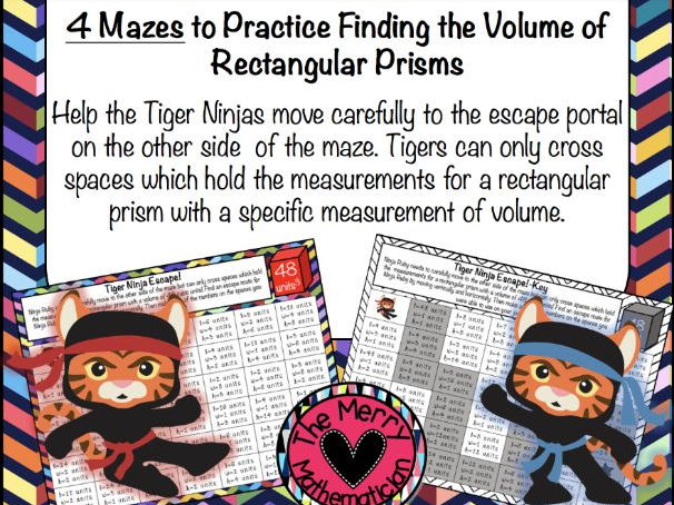 Volume of Rectangular Prisms Ninja Escape Maze!