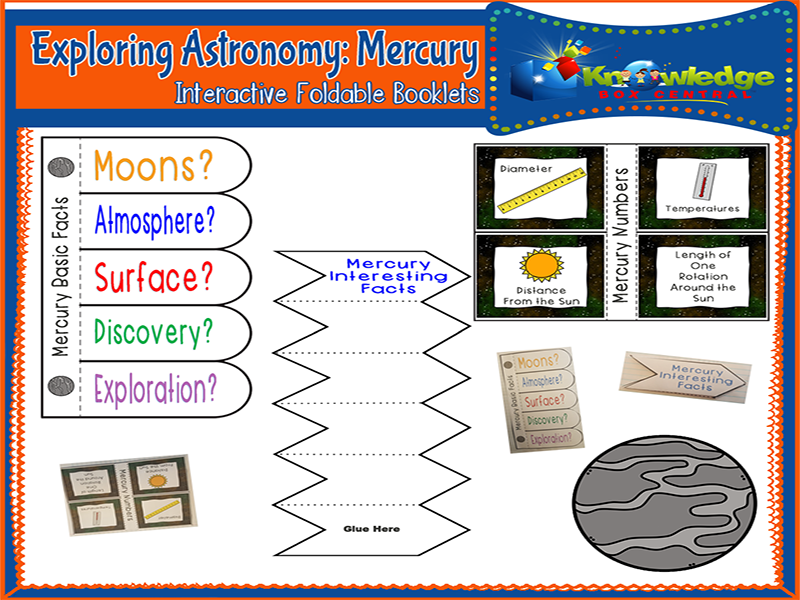 Exploring Astronomy: Planet Mercury Interactive Foldable Booklets