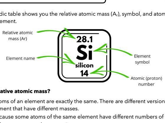 Calculating Relative Atomic Mass (GCSE & A Level)