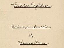 Full unit plan: Hedda Gabler (Henrik Ibsen)
