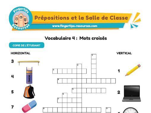 La Salle de Classe - Vocab Crossword