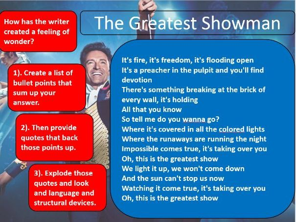 Unseen Poetry The Greatest Showman AQA Literature Paper 2