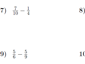 Subtracting fractions Bundle