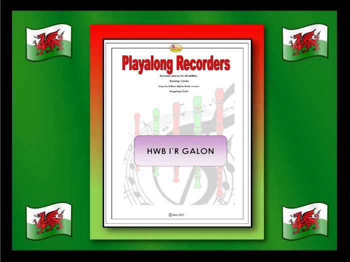 Playalong Recorders - HWB I'R GALON