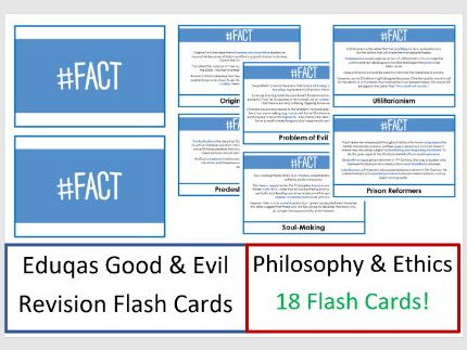 Eduqas Good & Evil Revision Flash Cards