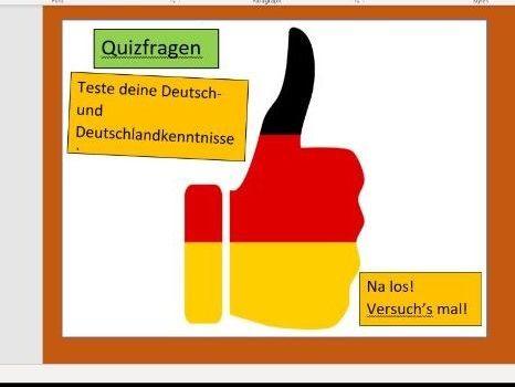 Quizfragen über Deutschland.