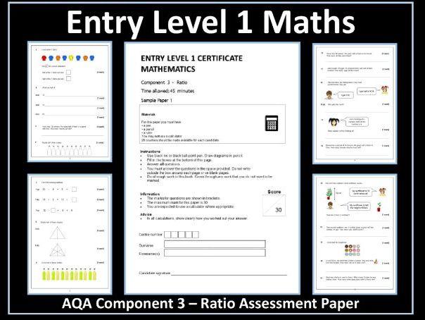 AQA Entry Level Maths Assessment - Ratio