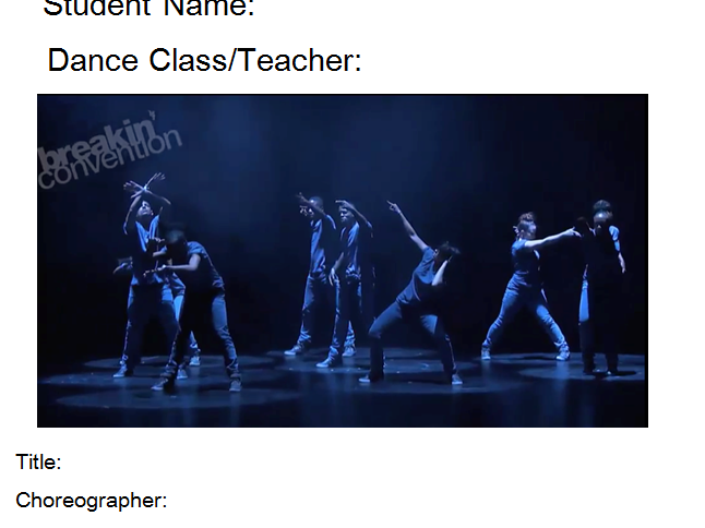 Emancipation of Expressionism Student Booklet-GCSE Dance