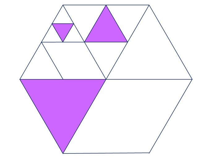 Express the shaded area as a fraction