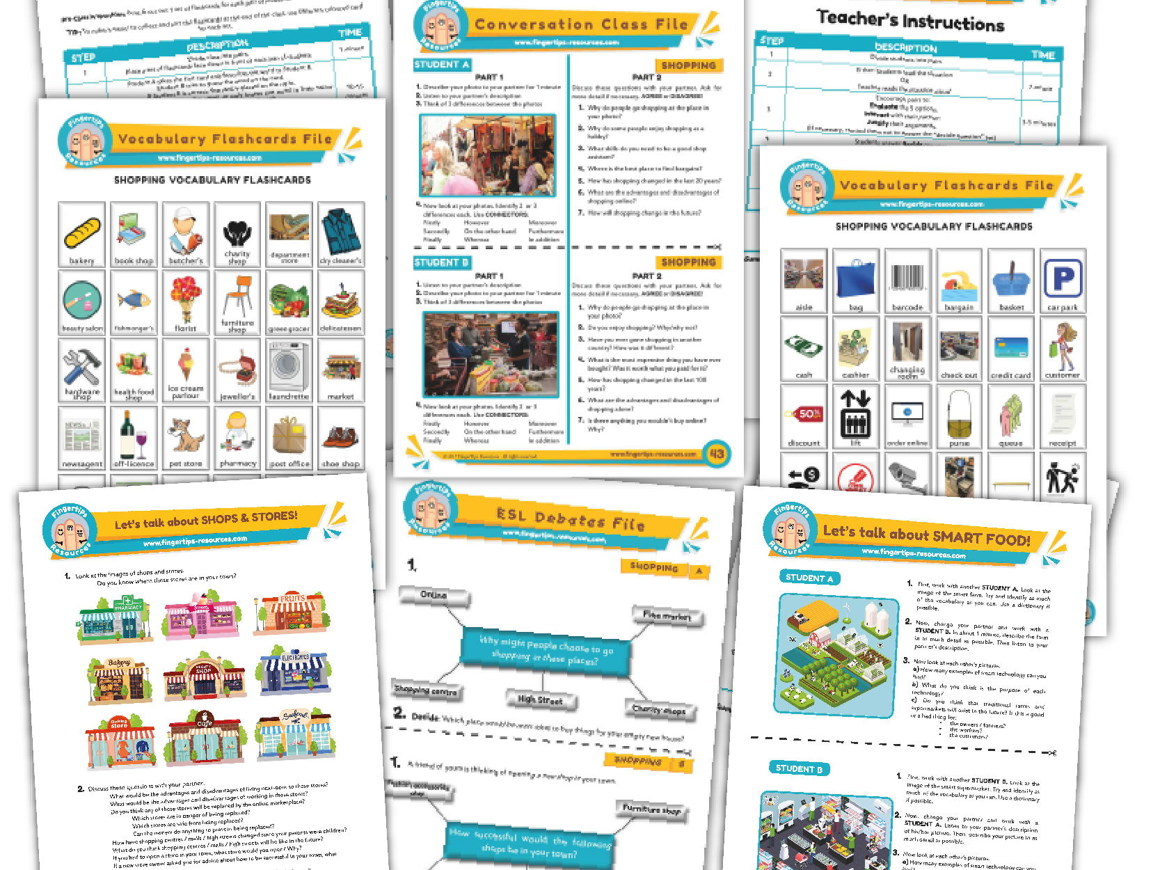 Shopping & Shops Unit - ESL Activity Bundle