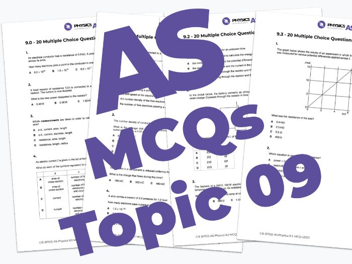 AS Physics 9702 - MCQs - 09. Electricity