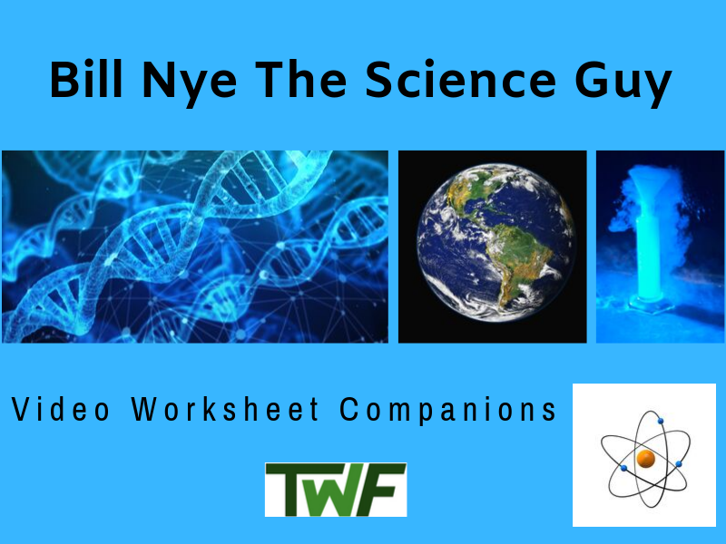 Bill Nye Video Worksheets Bundle - Complete 20 Video Worksheet Collection