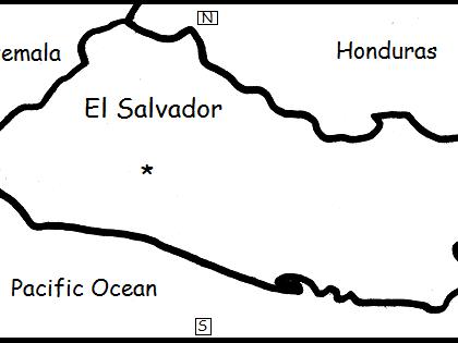 EL SALVADOR - Printable worksheets include a map to color
