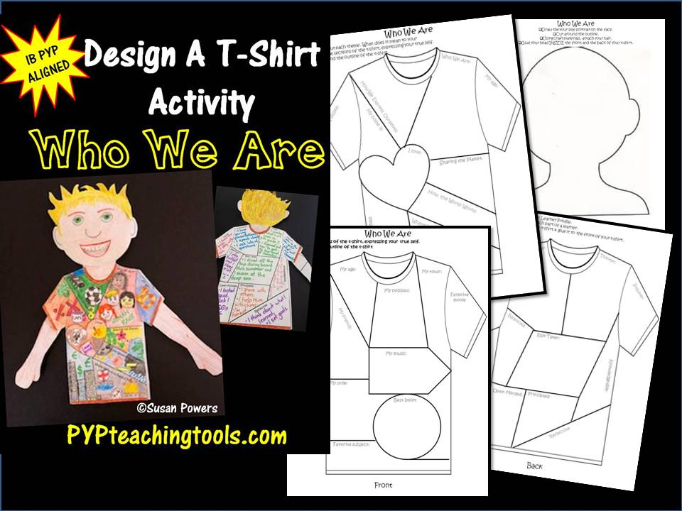Who W Are  Design A T Shirt Back to School Activity