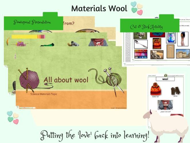 All about Wool Materials Science Bundle SEN & KS1