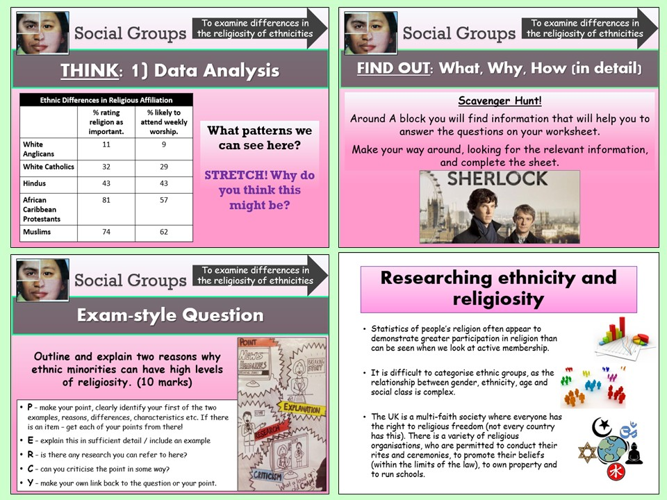 AQA A-level Sociology - Ethnicity and Religiosity (Social Groups) - Beliefs in Society Topic