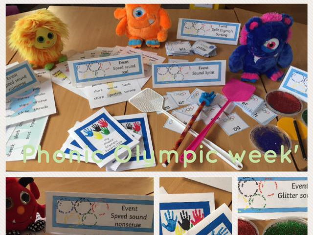Phonic Olympic Games  2018  Phonic Screen build up fun!  Year 1 Year 2 Phonics Olympics au aw air ee