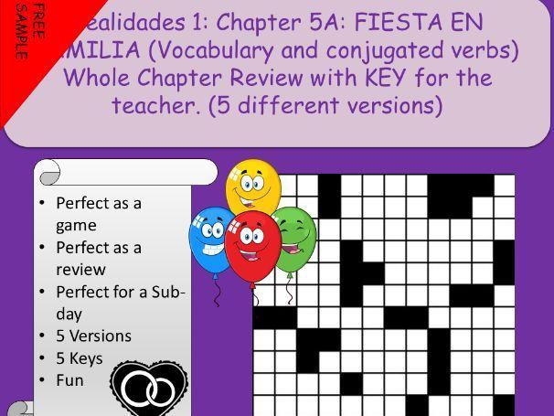Realidades 1 Ch 5A: La Familia (free ) | Teaching Resources