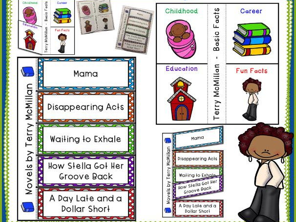 Terry McMillan Black History Interactive Foldable Booklets