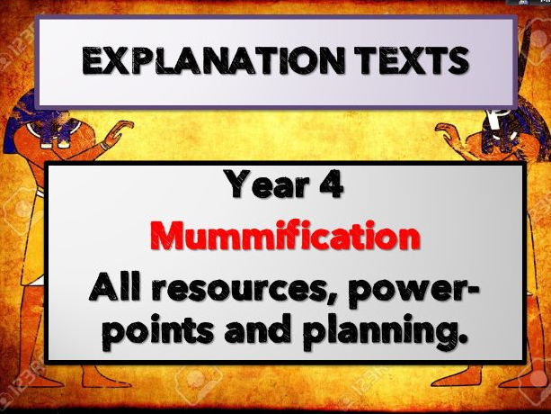 Year 4 EXPLANATION TEXTS