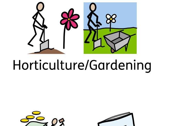 Horticulture/Gardening Booklet in Symbols