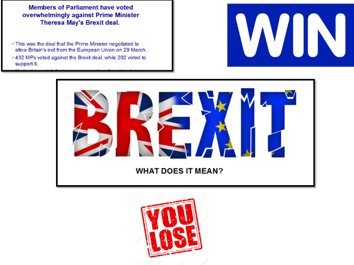 BREXIT The Deal, Vote and What Next - Research and Looking at the loss on 15th January in Parliament