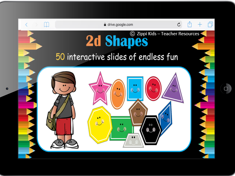 2D Shapes | Learn Shapes – 50 Interactive Google Slides