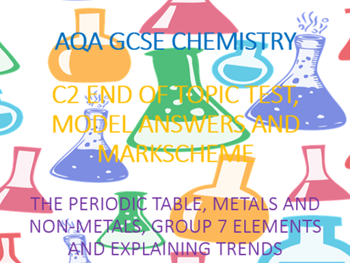 AQA GCSE Chemistry C2 Test and Answers