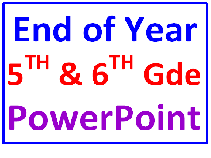 End of the Year 5th and 6th Grade POWERPOINT Trivia Quiz