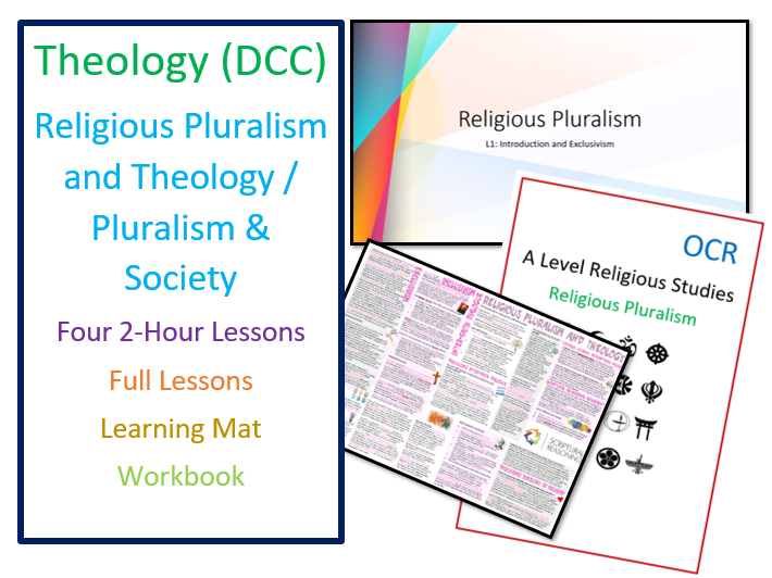 OCR A Level: Religious Pluralism and Theology Society - Whole Unit of Lessons and Resources