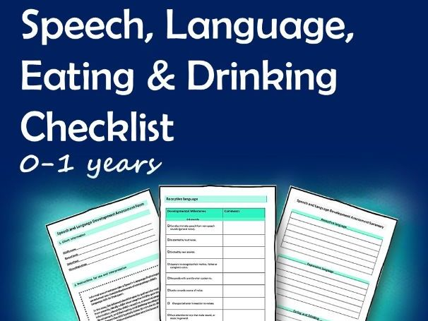 Speech Language Eating and Drinking Checklist 0-1 years