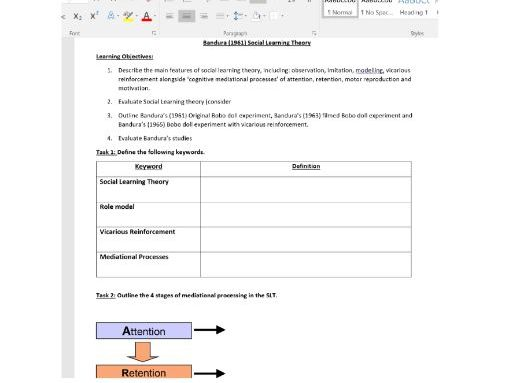 Edexcel A Level Psychology Learning Theories