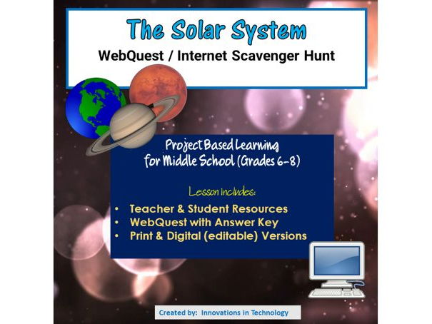 Planets and the Solar System - WebQuest / Internet Scavenger Hunt