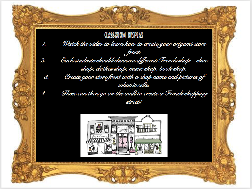 Shopping , les magasins - Expo 2 Module 3 - Full lesson + display project