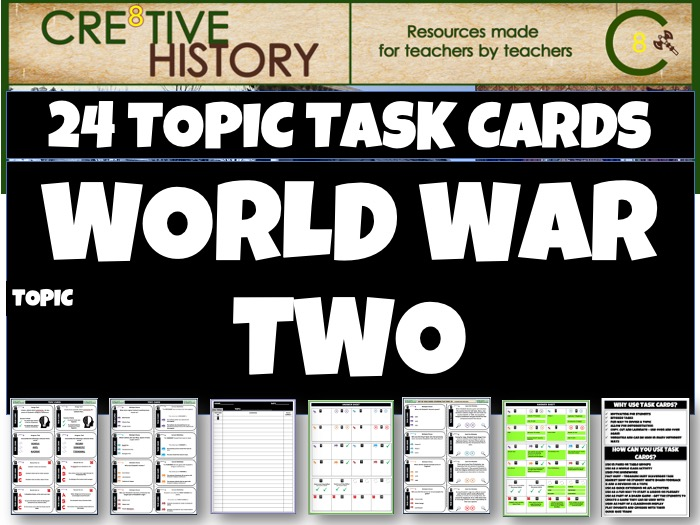 World War Two History Task Cards