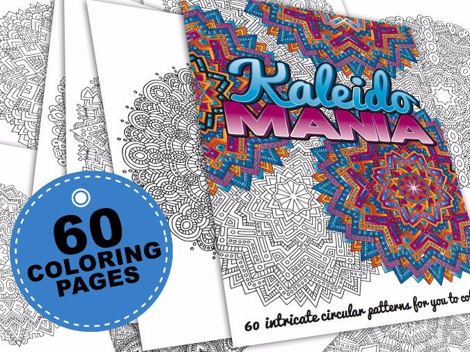 60 mandala coloring pages | Kaleidomania: Printable Adult Coloring Book | PDF
