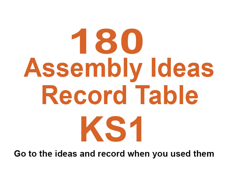 180 KS1 Assembly Videos With Record Table