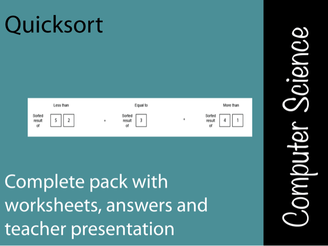 Quicksort - Lesson pack