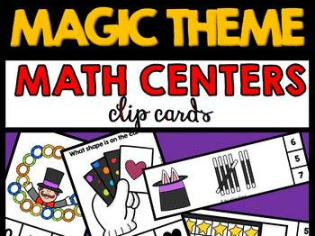MAGIC THEME MATH CENTERS BUNDLE (PRE K + KINDERGARTEN MAGIC THEME)
